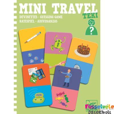 Mini Travel, Teki (Djeco kérdezz-felelek utazójáték,5373, 4-8 év)