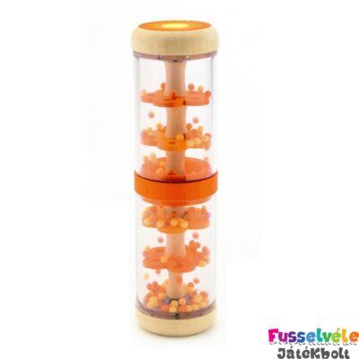 Esőbot, Narancs (Djeco, 6380, fa bébijáték, 1-3 év)