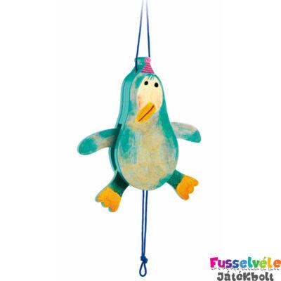 Függődísz, húzogatható, Pingvin (Djeco, 6474, bébiágy kiegészítő, 0-2 év)