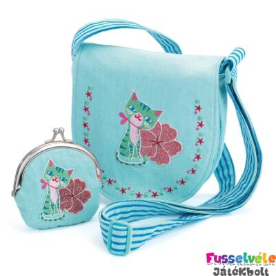 Himzett táska pénztárcával - Cica (Djeco e18325282f