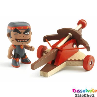 Arty Toys sárkány harcos, Klute és a gerelyvető balliszta (Djeco, 6723, játékfigura, 3-10 év)