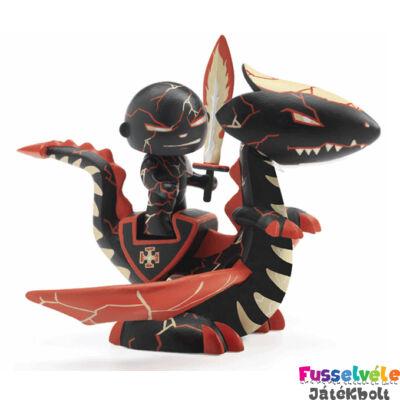 Arty Toys sárkány harcos, Drago és Volcano (Djeco, 6724, játékfigura, 3-10 év)