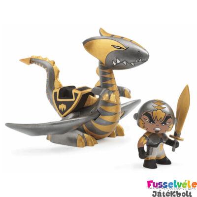 Arty Toys sárkány harcos, Chrome és Inferno (Djeco, 6725, játékfigura, 3-10 év)