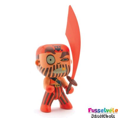 Arty Toys kalóz, A Vörös Kapitány (Djeco, 6800, játékfigura, 3-10 év)
