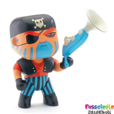 Arty Toys kalóz, Jack Skull (Djeco, 6801, játékfigura, 3-10 év)