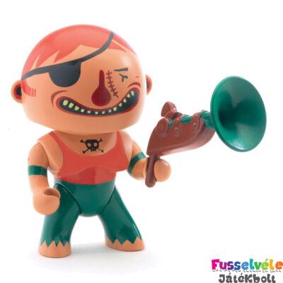 Arty Toys kalóz, Bronson (Djeco, 6805, játékfigura, 3-10 év)
