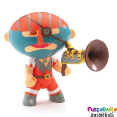 Arty Toys kalóz, Barbazur (Djeco, 6811, játékfigura, 3-10 év)