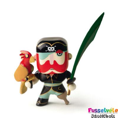 Arty Toys kalóz, Papagáj Sam (Djeco, 6816, játékfigura, 3-10 év)