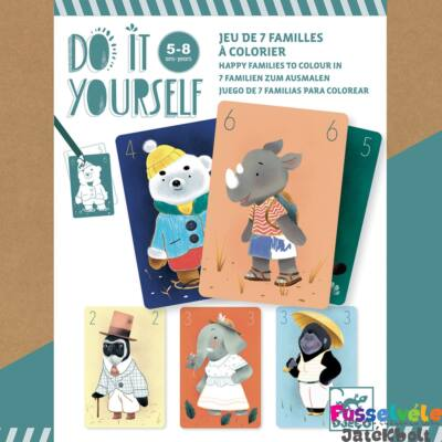 Csináld magad! Családgyűjtő kártyajáték készítő (Djeco kreatív készlet)