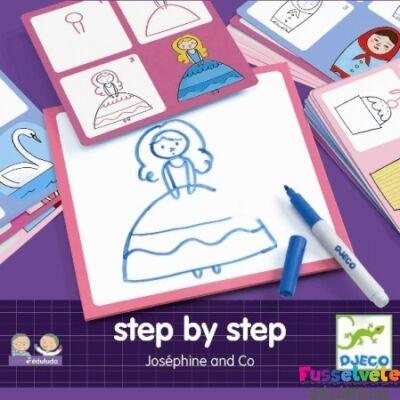 Djeco Step by Step Lépésről lépésre - Joséphine és barátai (Djeco, 8320, fejlesztőjáték, 3-6 év)