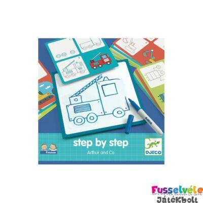 Djeco Step by Step Lépésről lépésre - Arthur és barátai (Djeco, 8321, fejlesztőjáték, 3-6 év)