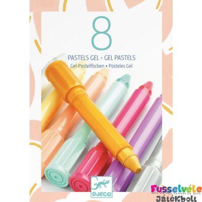 Pasztel kréta 8 db-os készlet, lányos színek (Djeco, 8814, 5 éves kortól)