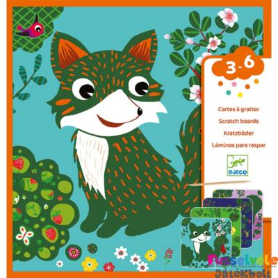 Karckép készítő kicsiknek, Állatok (Djeco, 9093, kreatív készlet, 3-6 év)