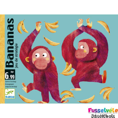 Bananas (Djeco, 5199, majmos taktikai kártyajáték, 6-14 év)