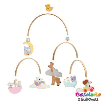 Függődísz, szélmobil, Gyerek állatok (Djeco, 4388, gyerekszoba dekor, 0-2 év)
