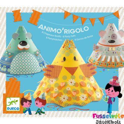 Szülinapi zsúrjáték, Animo Rigolo (Djeco, 2077, 8 party kalap készítő, 4-8 év)