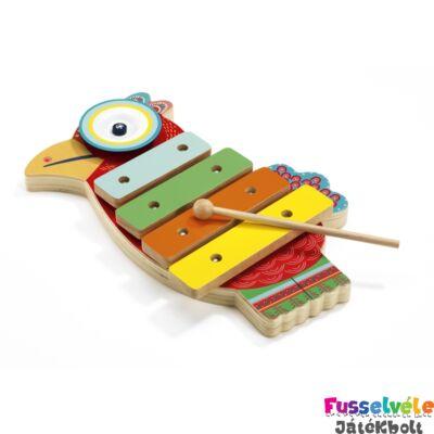 Cintányér és xilofon (Djeco, 6018, játékhangszer, 1,5 - 4 év)