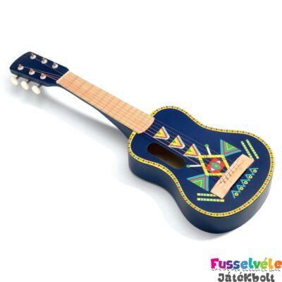 Gitár  - kék (Djeco, 6024, játékhangszer, 4-8 év)