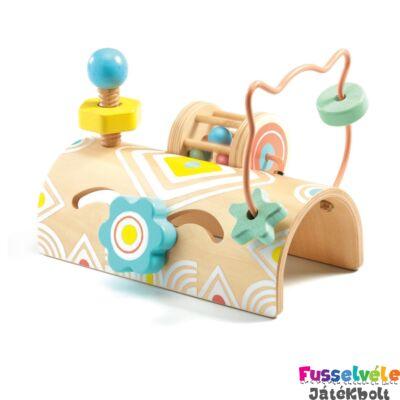 Felfedező játék - Tekergő - BabyTabli (Djeco, 6120, fa bébijáték, 1-3 év)