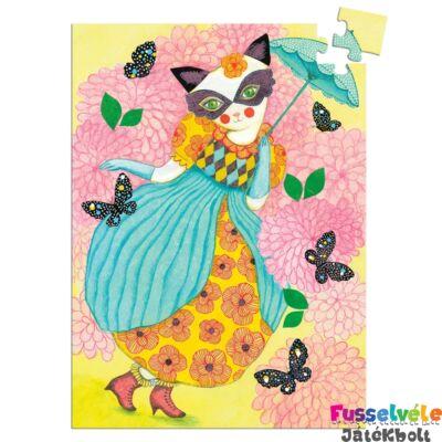 Mini puzzle, Miss Tigri (Djeco, 7677, 60 db-os kirakó, 5-10 év)