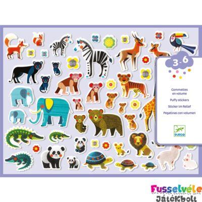 Puffi matrica szett, 118 db-os - Mothers and babies (Djeco, 9081, kreatív játék, 3-6 év)
