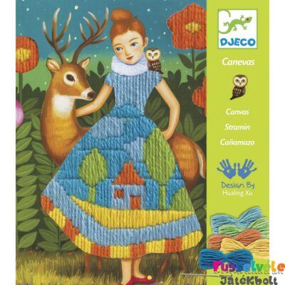 Képhímző készlet, Dress, Drop Stitch (Djeco, 9827, hímzőkészlet, 6-11 év)