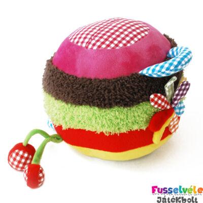 Játszólabda - plüss (Funky Garden, bébijáték, 0-2 év)