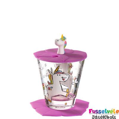 Gyerek pohár készlet 3 részes, Egyszarvú (Leonardo, 3 éves kortól)