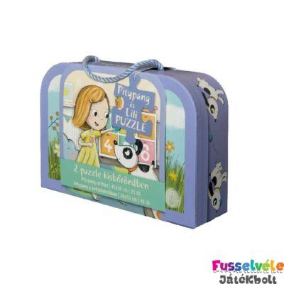 Pitypang és Lili bőröndös kirakó, 25 és 48 db-os puzzle (3-6 év)
