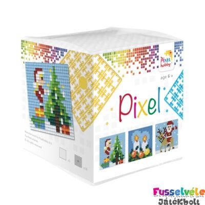 Pixelhobby, Kocka szett 3 kép, Karácsony (29001, 3db kis alaplap, 7-99 év)