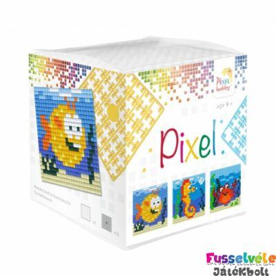 Pixelhobby, Kocka szett 3 kép, Tenger állatai (29002, 3db kis alaplap, 7-99 év)