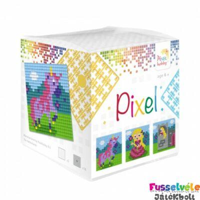Pixelhobby, Kocka szett 3 kép, Unikornis-Hercegnő (29001, 3db kis alaplap, 7-99 év)