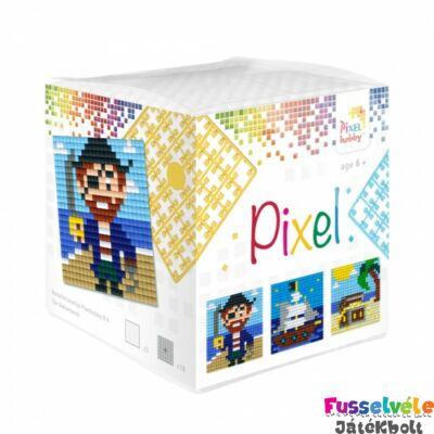 Pixelhobby, Kocka szett 3 kép, Kalóz (29009, 3db kis alaplap, 7-99 év)
