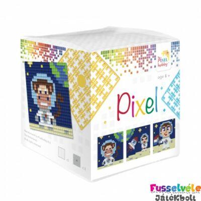 Pixelhobby, Kocka szett 3 kép, Űrhajós (29013, 3db kis alaplap, 7-99 év)