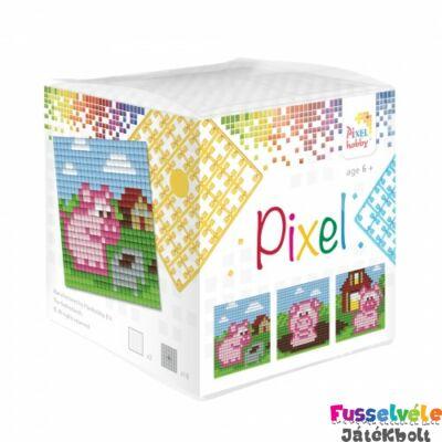 Pixelhobby, Kocka szett 3 kép, Malacok (29014, 3db kis alaplap, 7-99 év)
