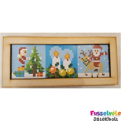 Pixelhobby, Fa keret 3db-os kicsi alaplaphoz (3x6x6 cm)