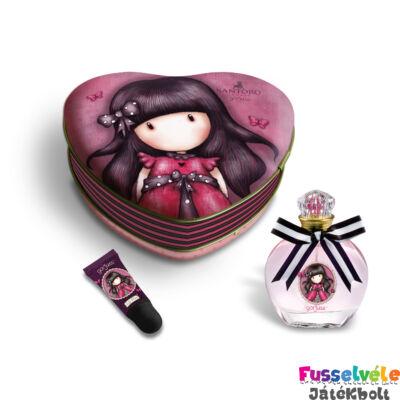 Gorjuss Parfüm és szájfény fémdobozban (kozmetikum, ajándékszett)