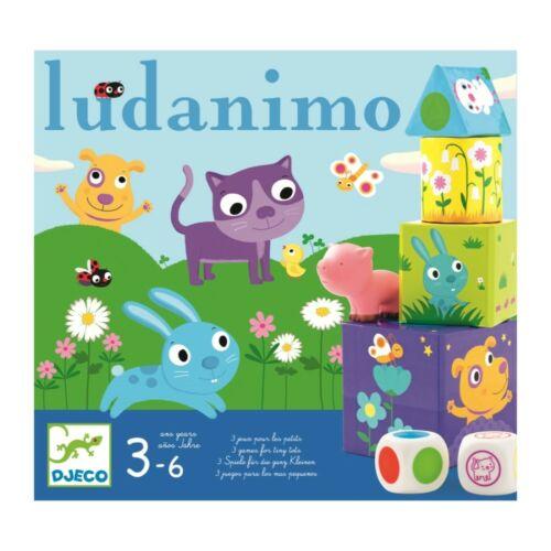 Első társasjáték, Ludanimo, 3 in 1 (Djeco, 8420, játék készlet, 2-6 év)