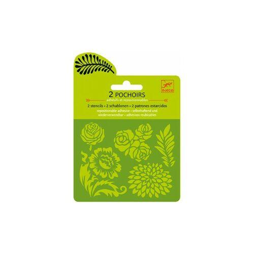 Rajzolósablon mini, Növények (Djeco, 9743, stencil készlet, 4-8 év)