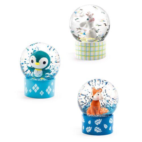 Mini hógömb - Nyuszi, Róka, Pingvin (Djeco, 3442, gyerekszoba kiegészítő, 0-12 év)