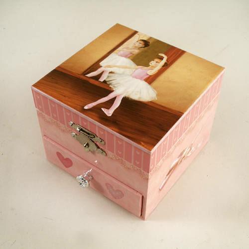 Zenélő ékszerdoboz, Táncoló balerina (rózsaszín) (Musicbox, zenedoboz, 3-99 év)