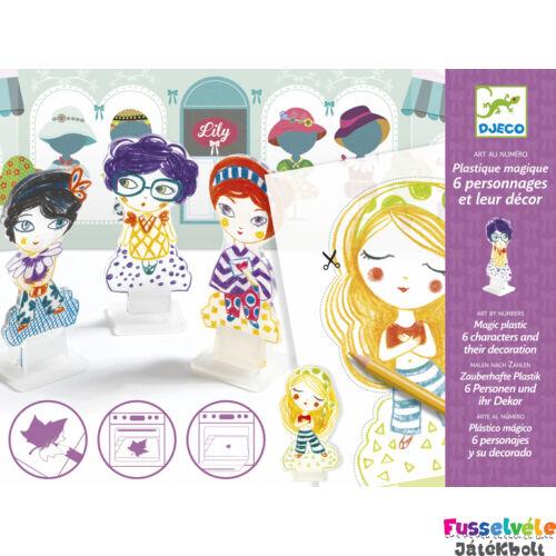 Kisüthető figurák, Lily-nél (Djeco, 9491, kreatív játék, 4-8 év)