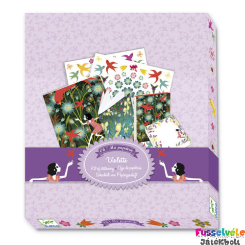 Írószer csomag, Violette (Djeco, 9831, papír-írószer)