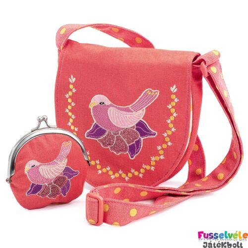 9780cc27a0 Himzett táska pénztárcával - Madárka (Djeco, 6678, gyerek kiegészítő, 4-12  év)