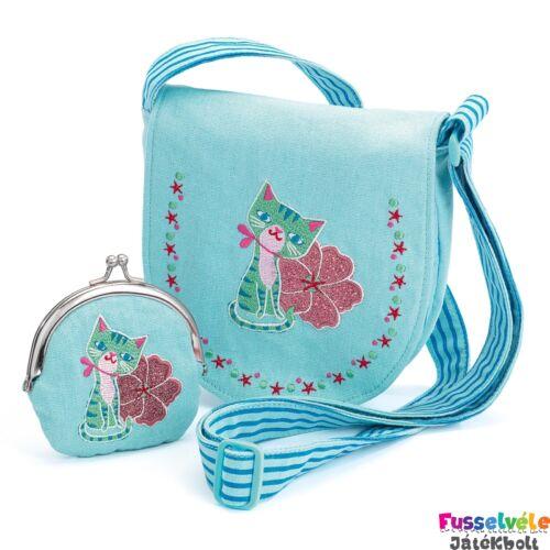 c68f1b4ac3 Himzett táska pénztárcával - Cica (Djeco, 6679, gyerek kiegészítő, 4-12 év)