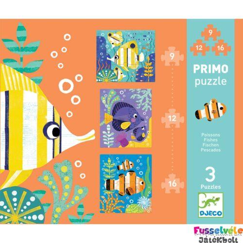 Óriás puzzle, Halak (Djeco, 7138, 9, 12, 16 db-os kirakó, 3-6 év)