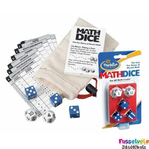 Math Dice (Thinkfun, matekos játékos fejlesztő, 8-99)