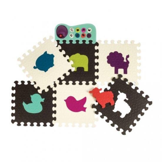 B.TOYS  Zenélő állatos padló puzzle (0-2 év)