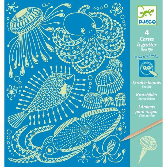 Karcképek, A tenger világa - Sea Life (Djeco, 9729, kreatív készlet, 7-13 év)